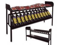 Mostrador para embutidos, fabricado en metal