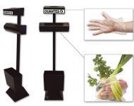 Dispensador de bolsas y guantes para fruterías.