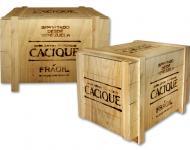 Caja transporte, formato Retro, gráfica grabada con calor.