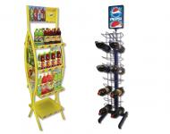 Mueble expositor para bebidas, fabricados en metal, gran capacidad de carga