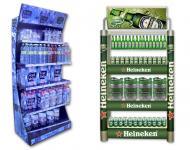 Muebles de cabecera para exponer productos, fabdricados en metal y aluminio