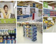 Soportes, decoración y cartelería para grandes superficies