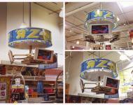 Mueble Áereo multimedia, metal, soporta gran carga