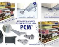 Sistema PCM®, ruedas para mover estanterías, mostradores, y góndolas de gran carga.