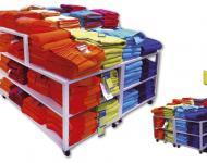 Mesa modular con altura para productos promocionales o de temporada